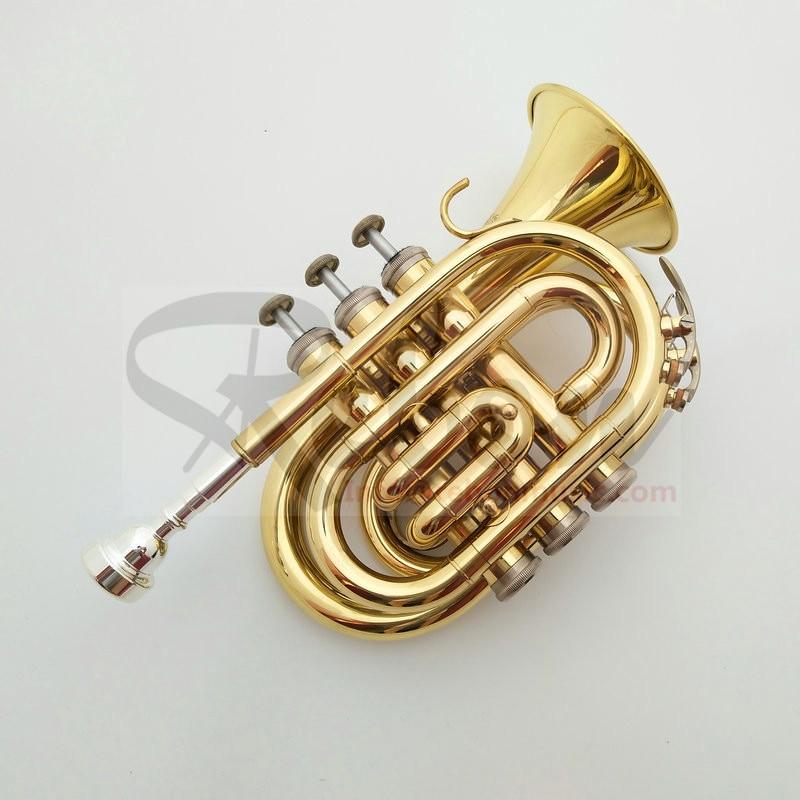 Chave de Bronze Weifang Rebon Amarelo Mini Trompete bb