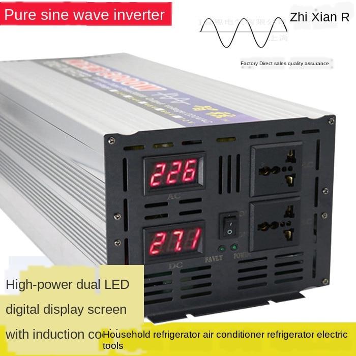 12 فولت/24 فولت/48 فولت/60V6000W إلى 110 فولت أو 220 فولت-240 فولت محول موجة جيبية نقية متوفرة طباخ التعريفي الثلاجة مكيف الهواء