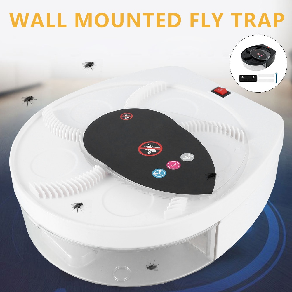 Wall-mounted Electric Fly Trap Wireless USB Flytrap Automatic Pest Catcher Fly Pest Reject Control Catcher Killer Device Insect