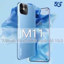 Смартфон Xiomi M11 на Android 10, 512 ГБ, 7,2 дюйма