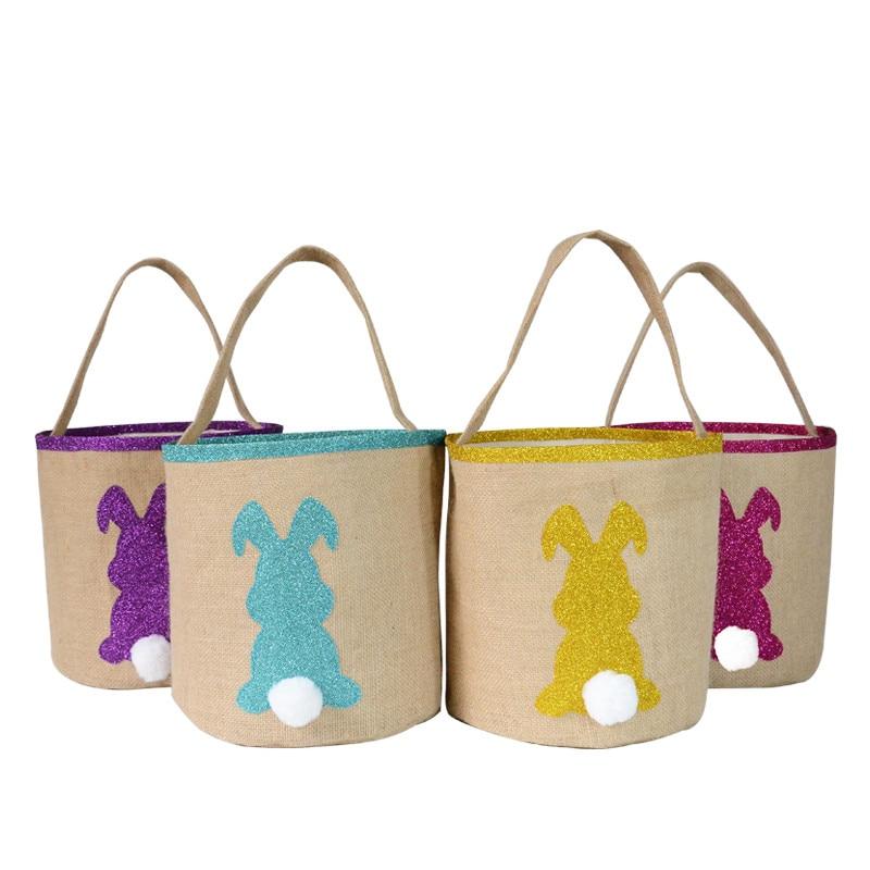 1Pc Easter Bunny Ear Bags Rabbit Candy Snack Bag Easter Baskets Kids Gifts Bag Festival DIY Craft Ho