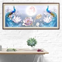 5d diy diamond painting peacocks animals full drill square round diamond embroidery flower landscape handcrafts home decoration