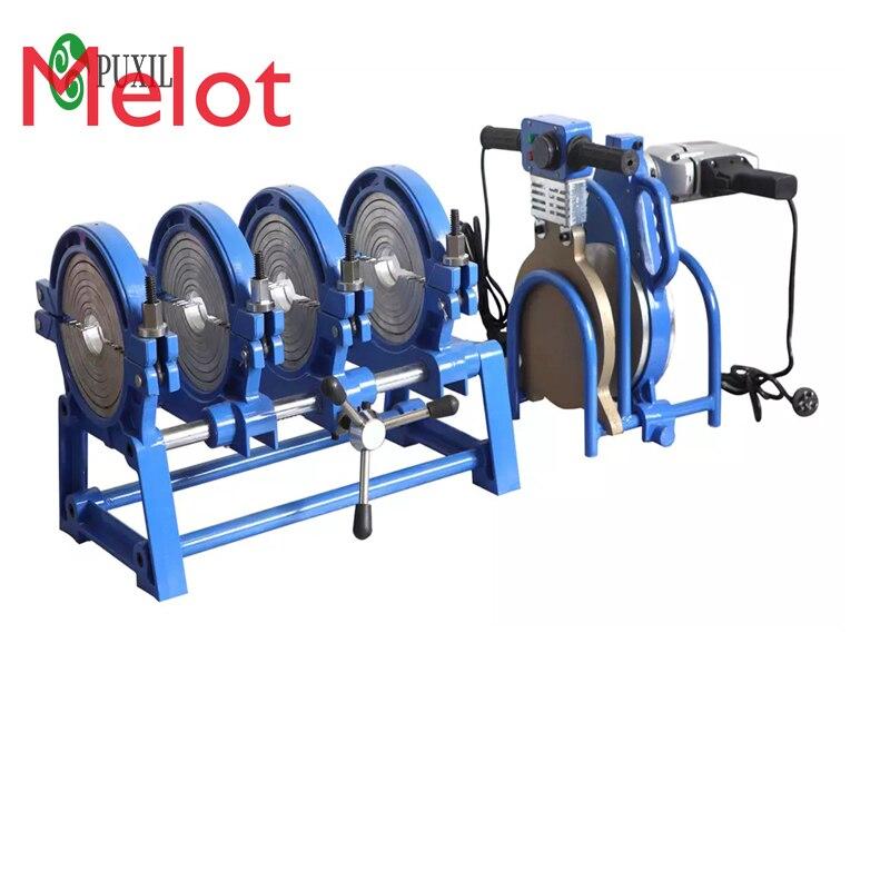 63-200 manual thrust butt welding machine PE fusion welding machine PE precision hot melting machine butt fusion welder 220V/110 enlarge