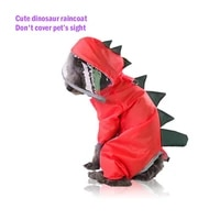 s xxl pet dog raincoat reflective waterproof jacket high neck hooded jumpsuit for small big puppies overalls rain cloak teddy