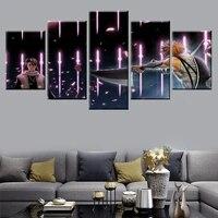 Peinture murale Art deco modulaire a 5 panneaux  decor de maison  chambre de garcon  affiche de mort  peinture sur toile