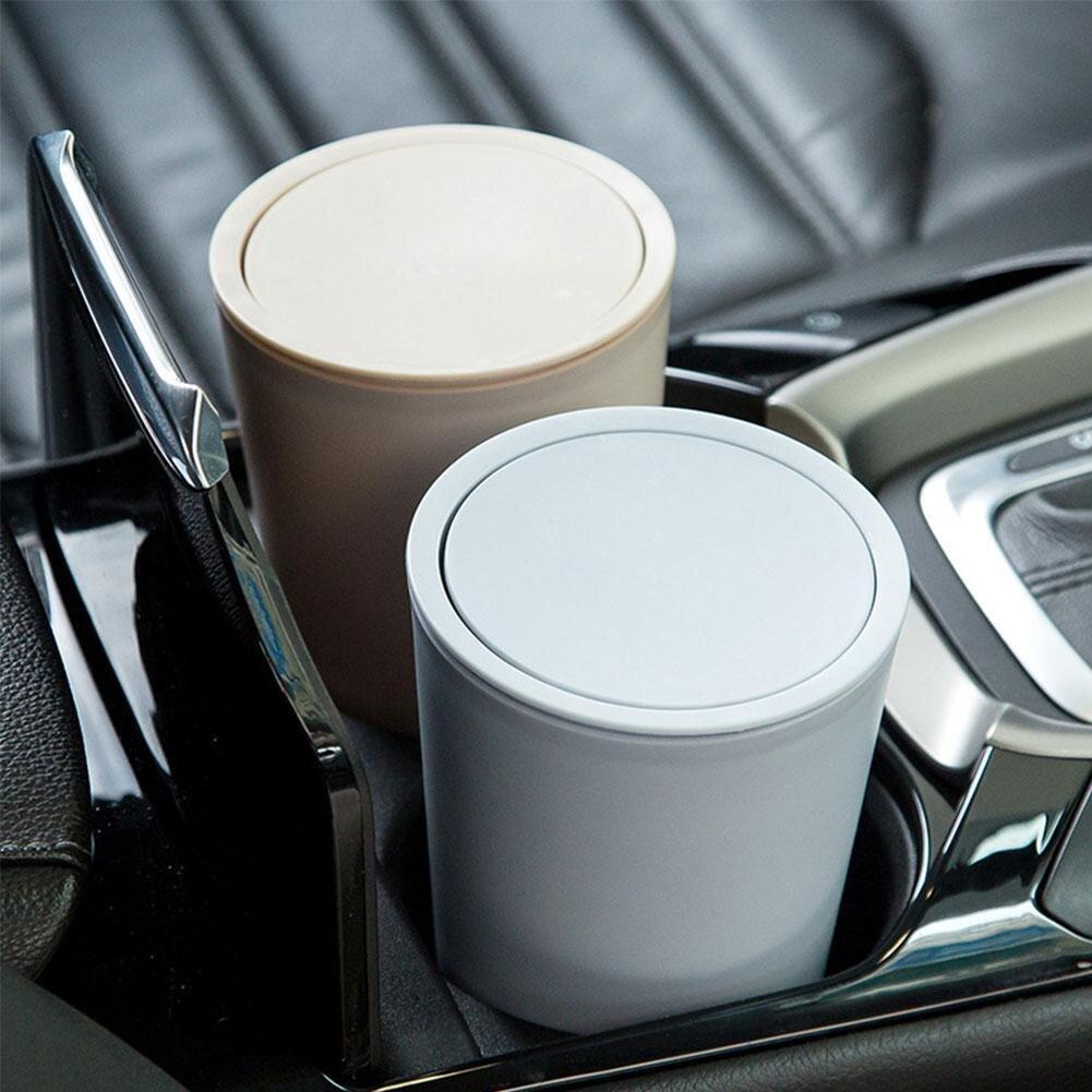 New Car Garbage with Lid Can Car Trash Bin Home Room Garbage Dust Case Holder Bin Car Basket Car Acc