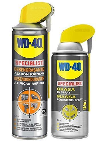 Especialista Em Limpeza WD-40 Lote & Lubrificado-Especialista Desengraxante Spray 400 ml-Pacote de 500ml + Especialista Gordura 2 pcs