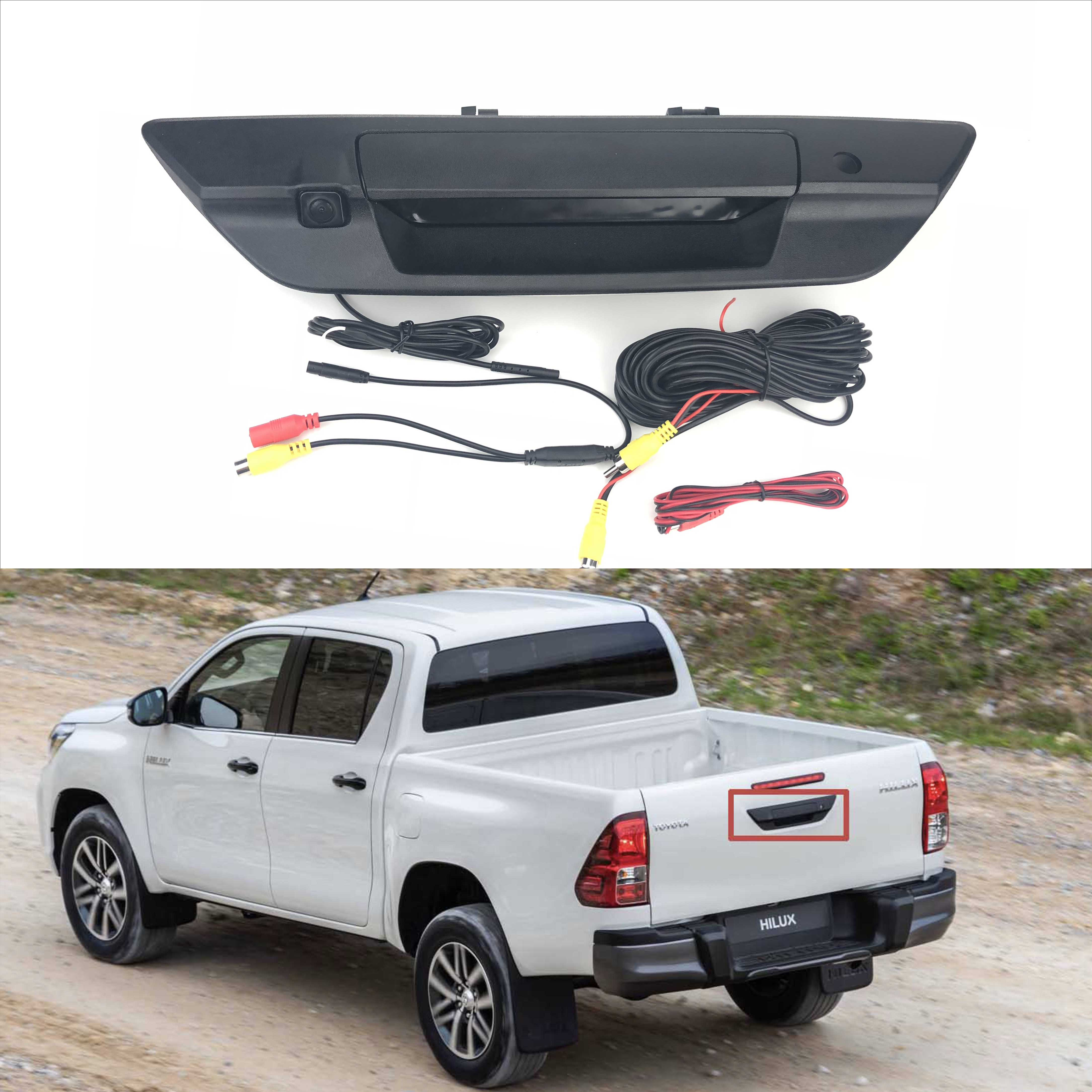 JIAYITIAN Tailgate Handle Camera For Toyota Hilux New hilux 2018 2019 2020 CCD HD Backup RearView CAM