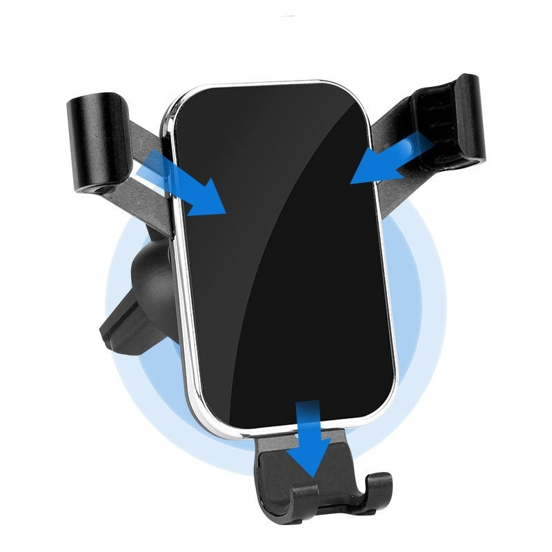 360 rotation automatically locking windshield mount car phone holder in car stand support for samsung iphone 3 styles 3 colors Car Gravity Phone Holder 360 Rotation Universal Car Air Vent Mount Navigation Stand for Iphone Xiaomi Samsung