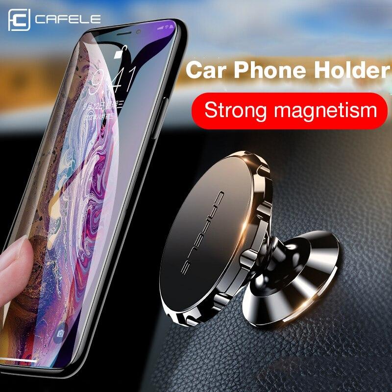 Cafele magnético universal suporte do telefone do carro para o telefone em suporte do carro suporte para o telefone celular ímã de montagem em liga de alumínio