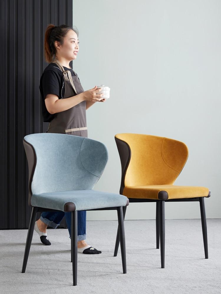 Стул обеденный в скандинавском стиле, мебель для дома, современный стул для отелей, ресторанов, переговоров, легкий роскошный стул для отдых...