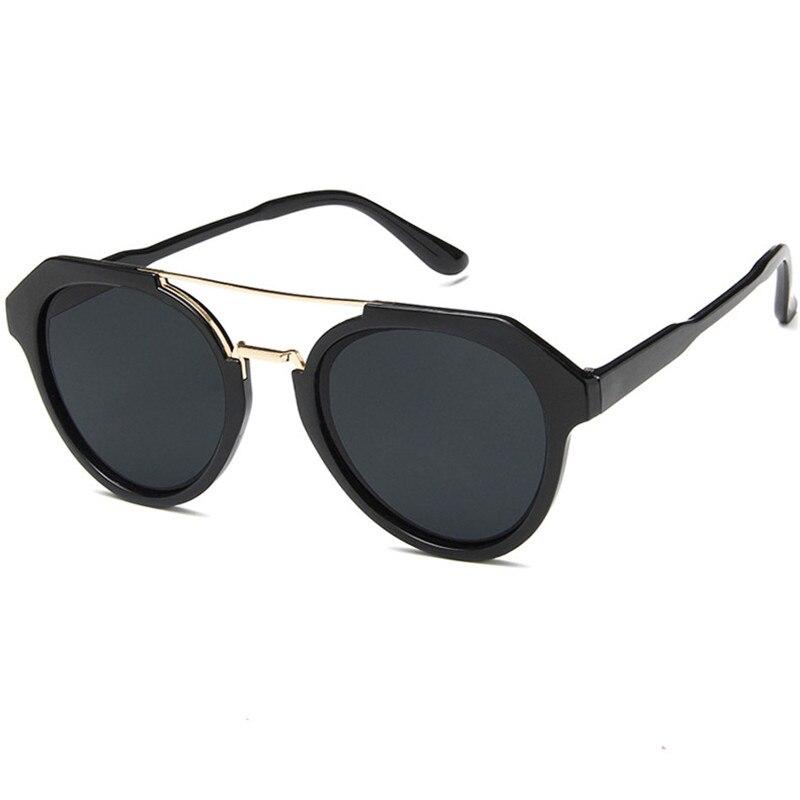 Очки солнцезащитные женские оверсайз, модные круглые брендовые дизайнерские зеркальные винтажные солнечные очки с защитой UV400