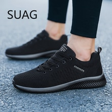 Men Sneakers Fashion Men Casual Shoes Breathable Men Shoes Walking Sneakers Men's Tennis Black Tenis