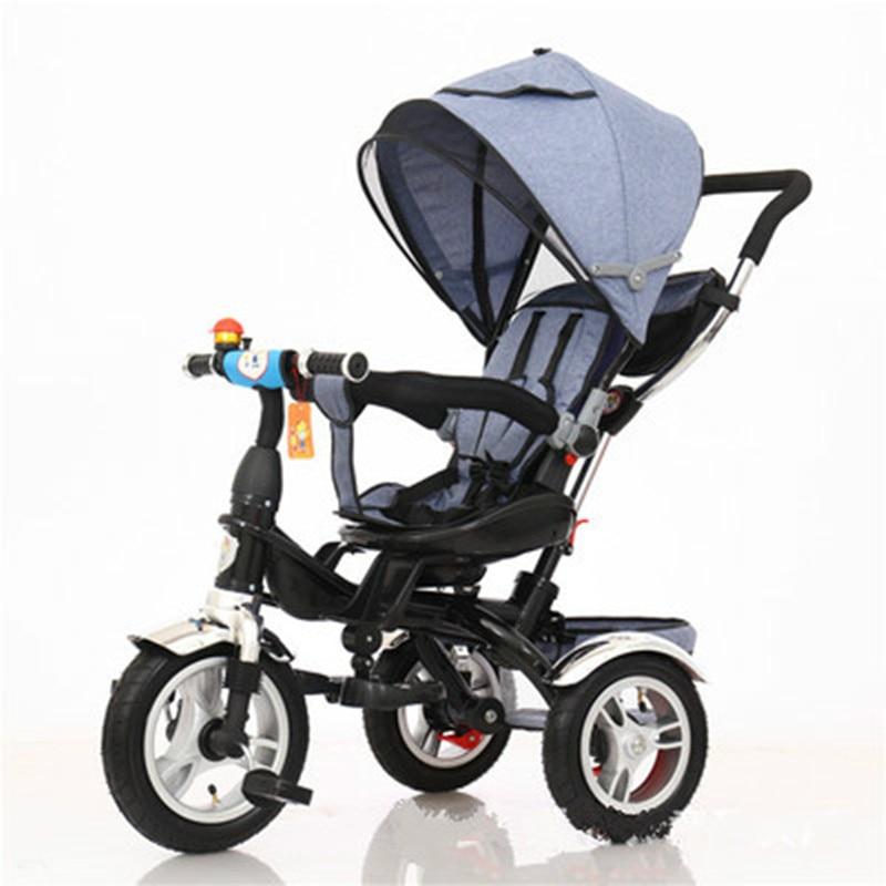 الطفل عربة 3 في 1 المحمولة الطفل دراجة ثلاثية العجلات الأطفال دراجة ثلاثية العجلات الدراجة دراجة الجلوس الاستلقاء Trike عربة قطب مقعد