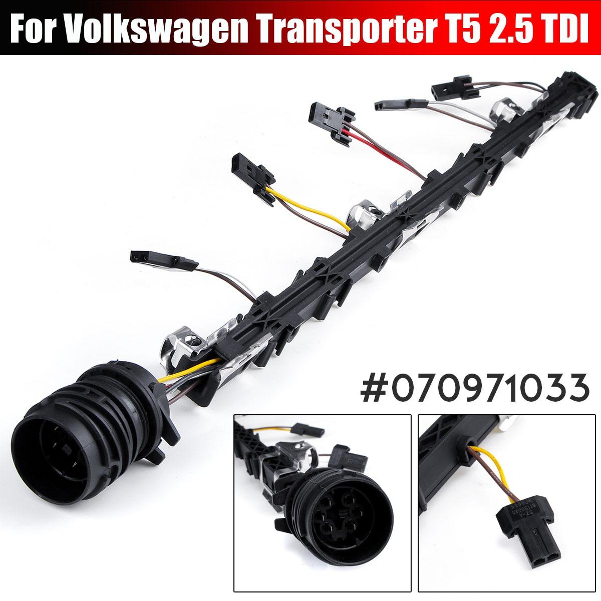 Cableado de inyector telar 2,5 TDI PD motor diésel 070971033 cableado de cables para Volkswagen para VW para Transporter T5