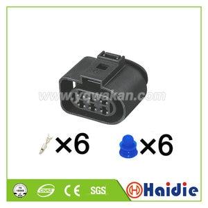 Free shipping 2sets 6pin 3.5mm Kit LSU 4.2 sensor connector case for VW 1J0973733 1J0 973 733