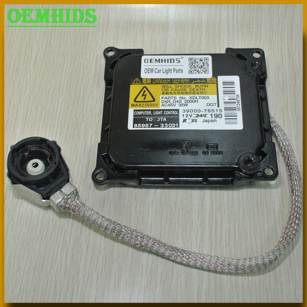 OEM D4S ballast 1PCS Original OEMHIDS Verwendet KDLT003 39000 78515 280cm scheinwerfer Control Unit Modul ECU xenon hid 85967 33031