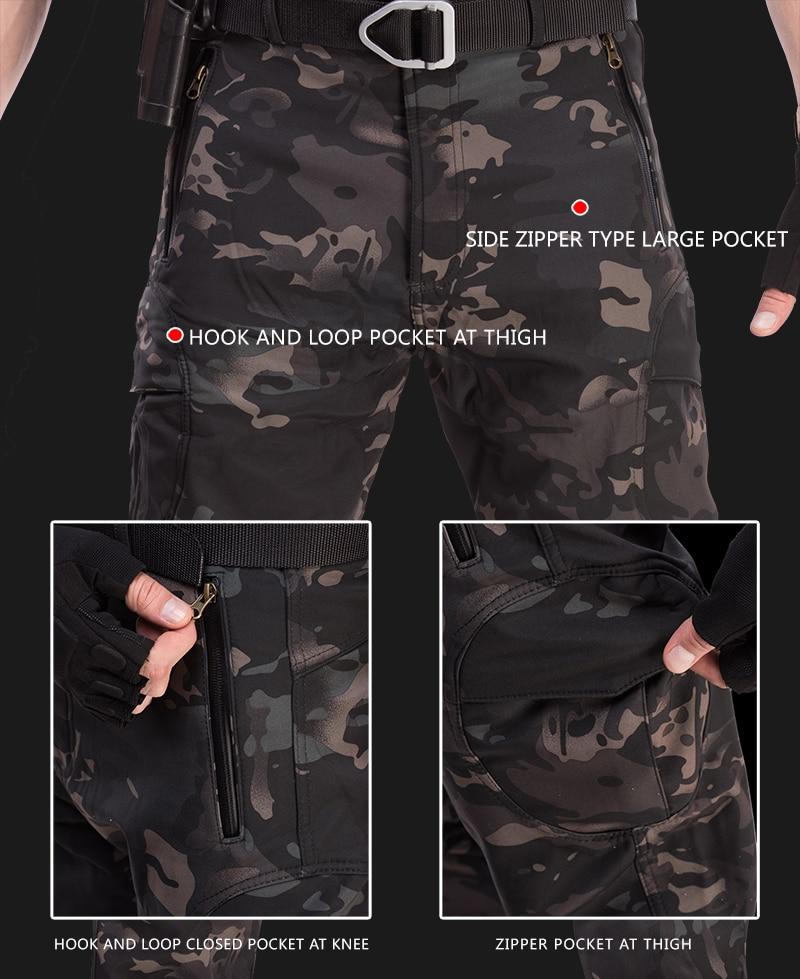 Купить с кэшбэком TAD Tactical Jacket Men Soft Shell Jackets Army Waterproof Camo Hunting Clothes Suit Camouflage Shark Skin Military Coats+Pants