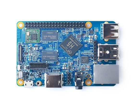 NanoPi K1 Plus مجلس التنمية H5 منفذ إيثرنت جيجابايت 2 جيجابايت RAM على متن واي فاي ، 4K تشغيل