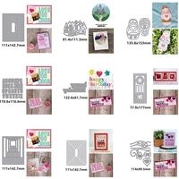 rectangle irregular alphabet female doll birthday word metal cutting dies for scrapbooking album paper diy cards crafts new dies