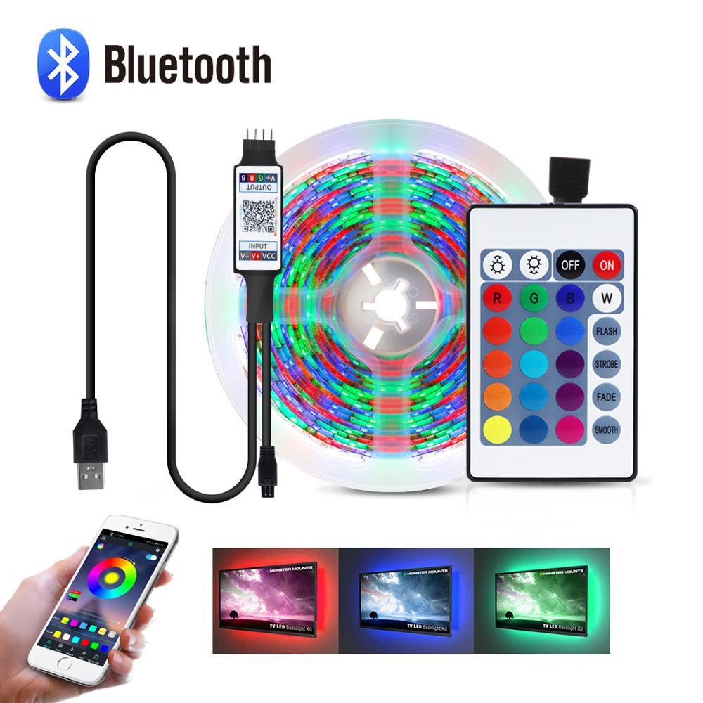 Bluetooth 1M 5M USB LED Streifen lampe 2835SMD RGB led leuchten Band TV Blacklight 5V LED streifen licht LED-Streifen    -