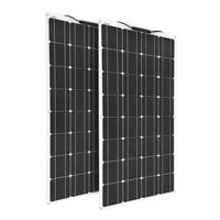 flexible solar panel 100w 200w 120w 240w monocrystalline solar cell for 12v 24v battery charger home system kit