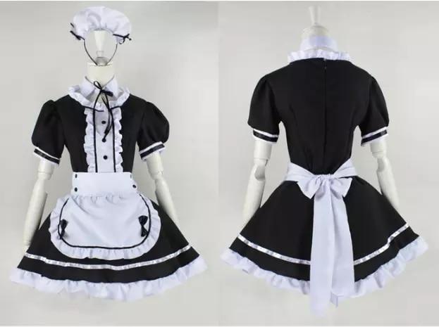 2021 negro Linda Lolita trajes de doncella francés vestido chicas mujer Amine...