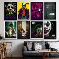 Imprimes dart mural de film classique  affiche Joker  decor de cinema  image sur toile  decor de salon de maison  sans cadre