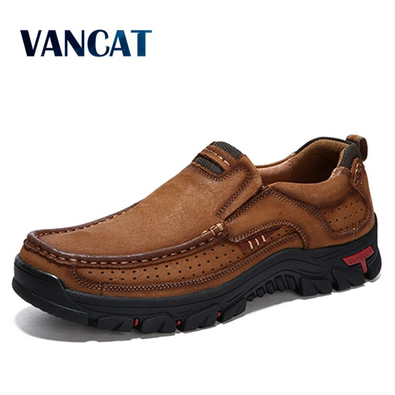 2020 novos sapatos masculinos de alta qualidade 100% sapatos casuais couro genuíno sapatos de trabalho à prova dwaterproof água sapatos de couro de vaca mais tamanho 38-48