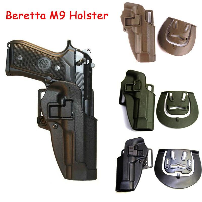 Pistola táctica pistolera para Beretta M9 M92 mano izquierda derecha pistolera Airsoft funda de pistola paleta de la cintura accesorios de caza