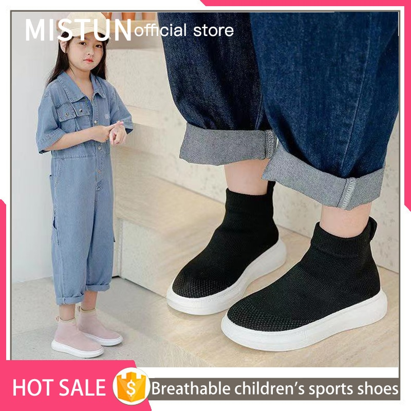 2021new Kids Sneakers Girls Short Boot Casual Socks Shoes boys Breathable Non Slip High Elastic Ankl