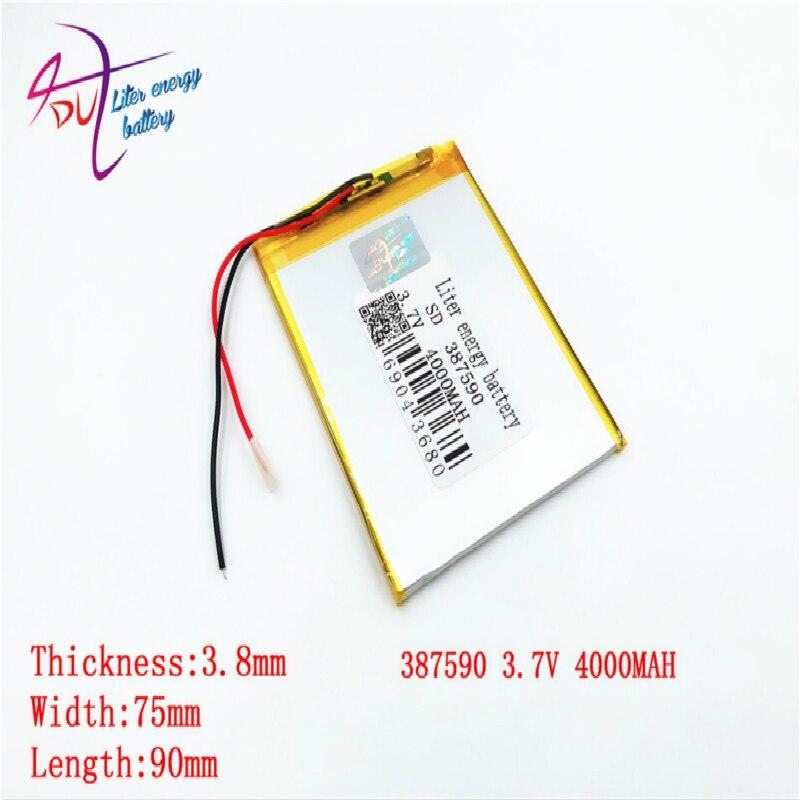 387590 3,7 V 4000mah 357390 357590 407590 batería de polímero de litio con tablero de protección para PDA Tablet Uds productos digitales