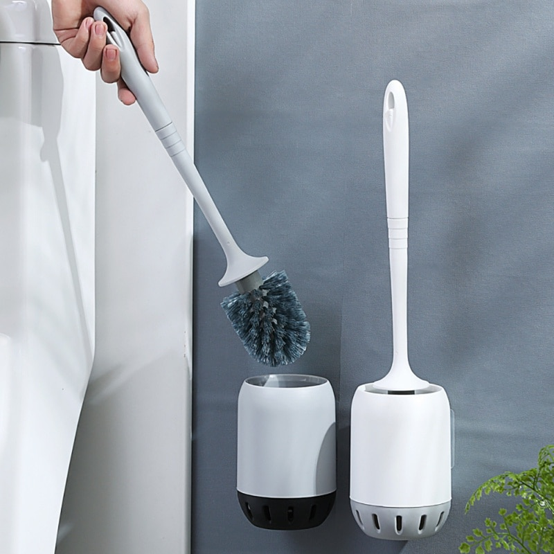 NewToilet Brush Cleaning Brush For Toilet Wall Hanging Household Floor Cleaning Bathroom Accessories Toilet Cleaning Brush Set