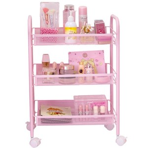 On-the-ground Shelf With Wheels Mobile Reception Trolley Dormitory Essential Artifact Net Red Female Dormitory Dormitory College