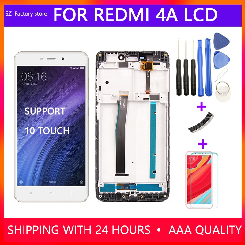 Reemplazo de pantalla de 5,0 pulgadas para Xiaomi pantalla LCD Redmi 4A y conjunto de montaje de marco de digitalizador de pantalla táctil 1280*720