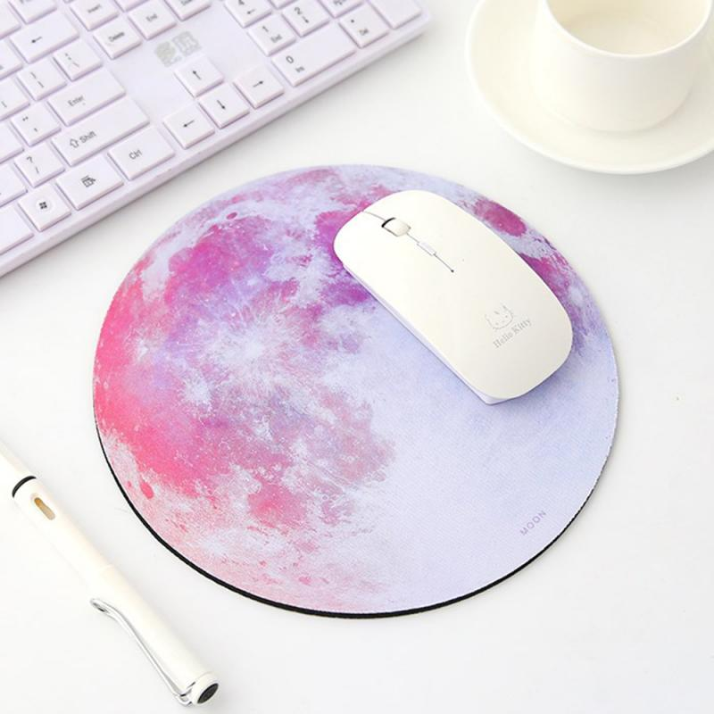 Round Mouse Pad Planet Series Mat Computer Peripherals Accessory Desktop Non-slip Pad Gamer Gaming Mouse Pad Round Desk Mat
