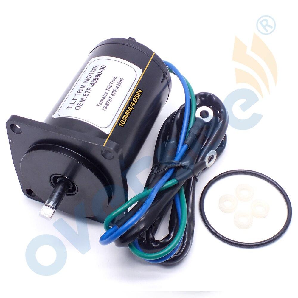 67F-43880 Tilt Trim motor For YAMAHA Outboard Motor 75 80 90 100 HP 2-Wire 12V 4Bolt Sierra 10862 ;67F-43880-00 enlarge