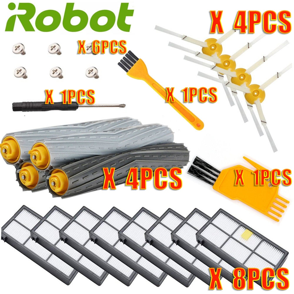 For IRobot Roomba Parts Kit Series 800 860 865 866 870 871 880 885 886 890 900 960 966 980 - Brushes and Filters