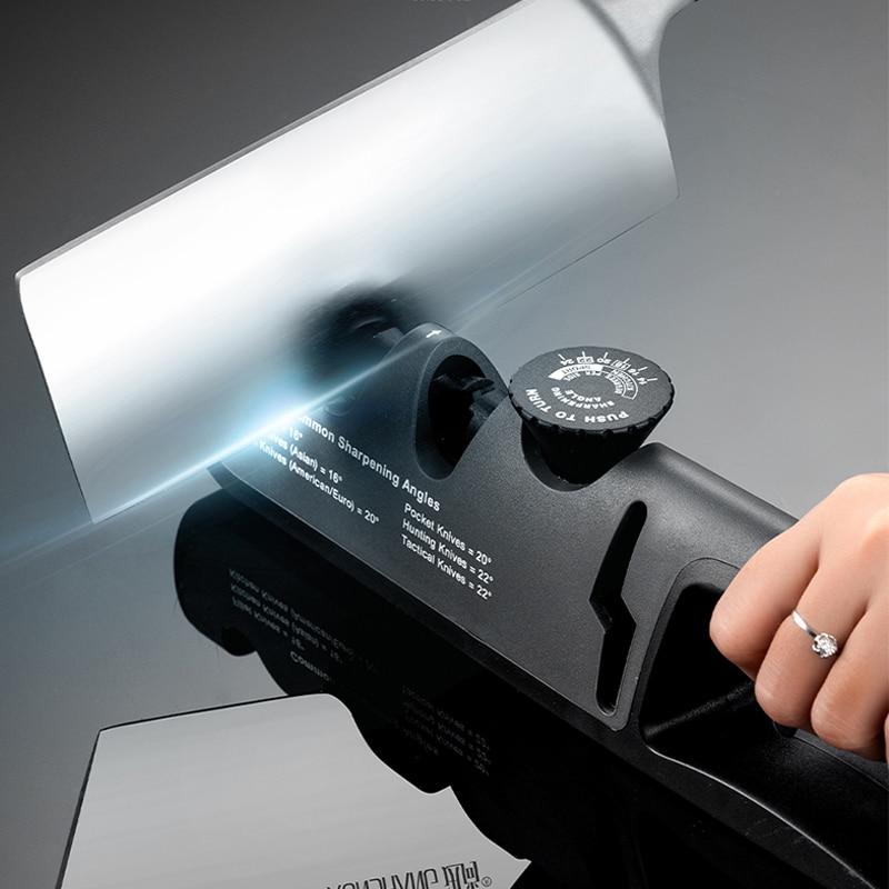 AliExpress - Knife Sharpener Angle Adjustable 4 Stages Scissors Sharpening stone Professional Kitchen Grinder knives Whetstone Sharpener Tool