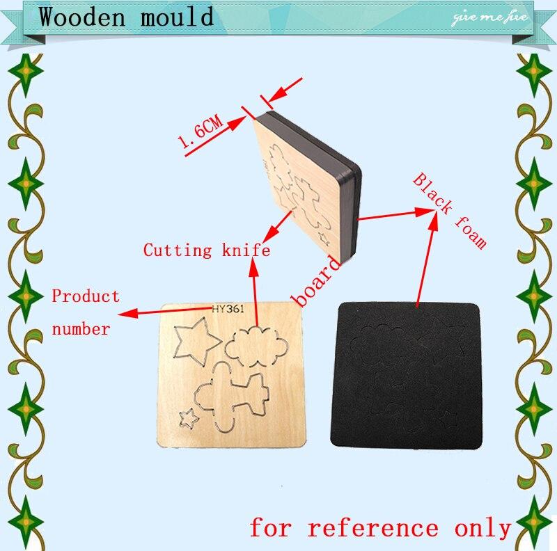 e molde de madeira, adequado para máquinas de corte comuns no mercado.