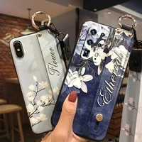 back cover durable phone case for oppo f7 silicone waterproof for girls fashion design lanyard