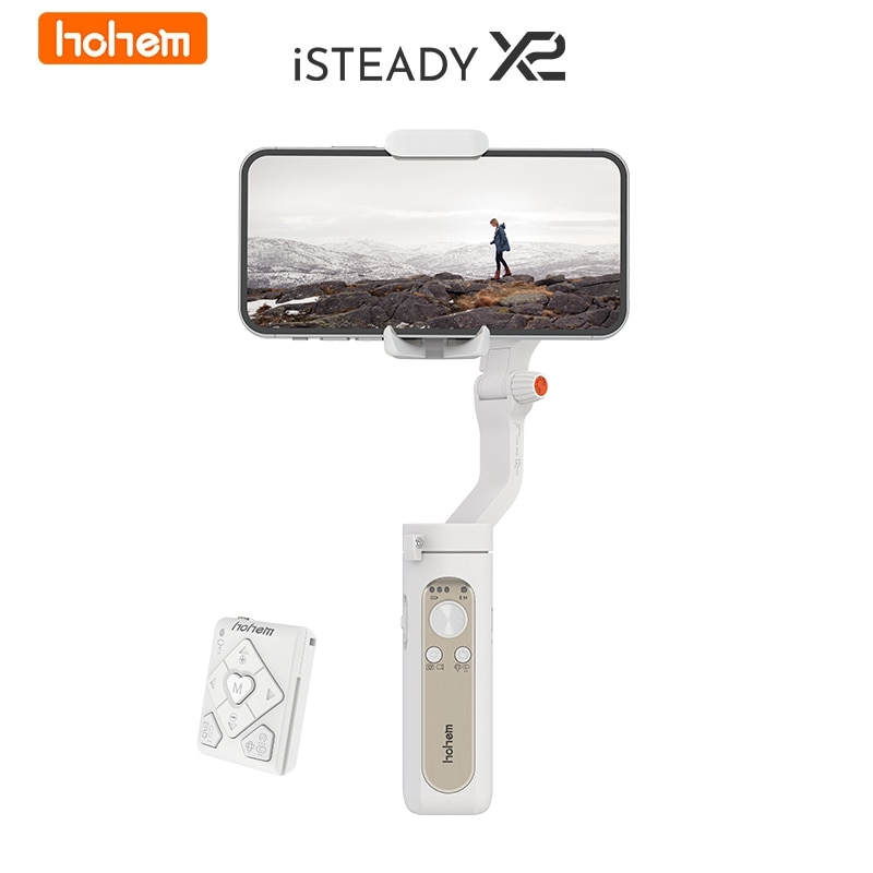 Get Hohem iSteady X 2 X2 3 Axis Handheld Stabilizer Face Tracking Smart Anti-shake Selfie Stick for iPhone Smartphone Action Camera