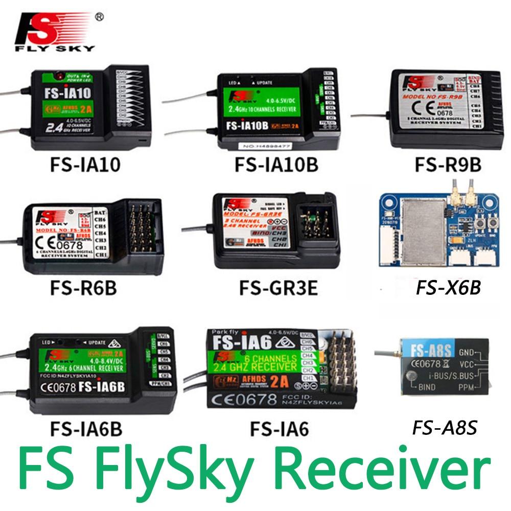 FlySky FS-R6B FS-GR3E FS-IA10B IA6B X6B FS-A8S receiver receptor para i6 i10 CT6B T6 TH9x transmisor de Control remoto partes flysky receiver fs gr3e fs a3 fs ia6 fs r6b fs x6b fs a8s fs r9b fs ia10b fs ia10