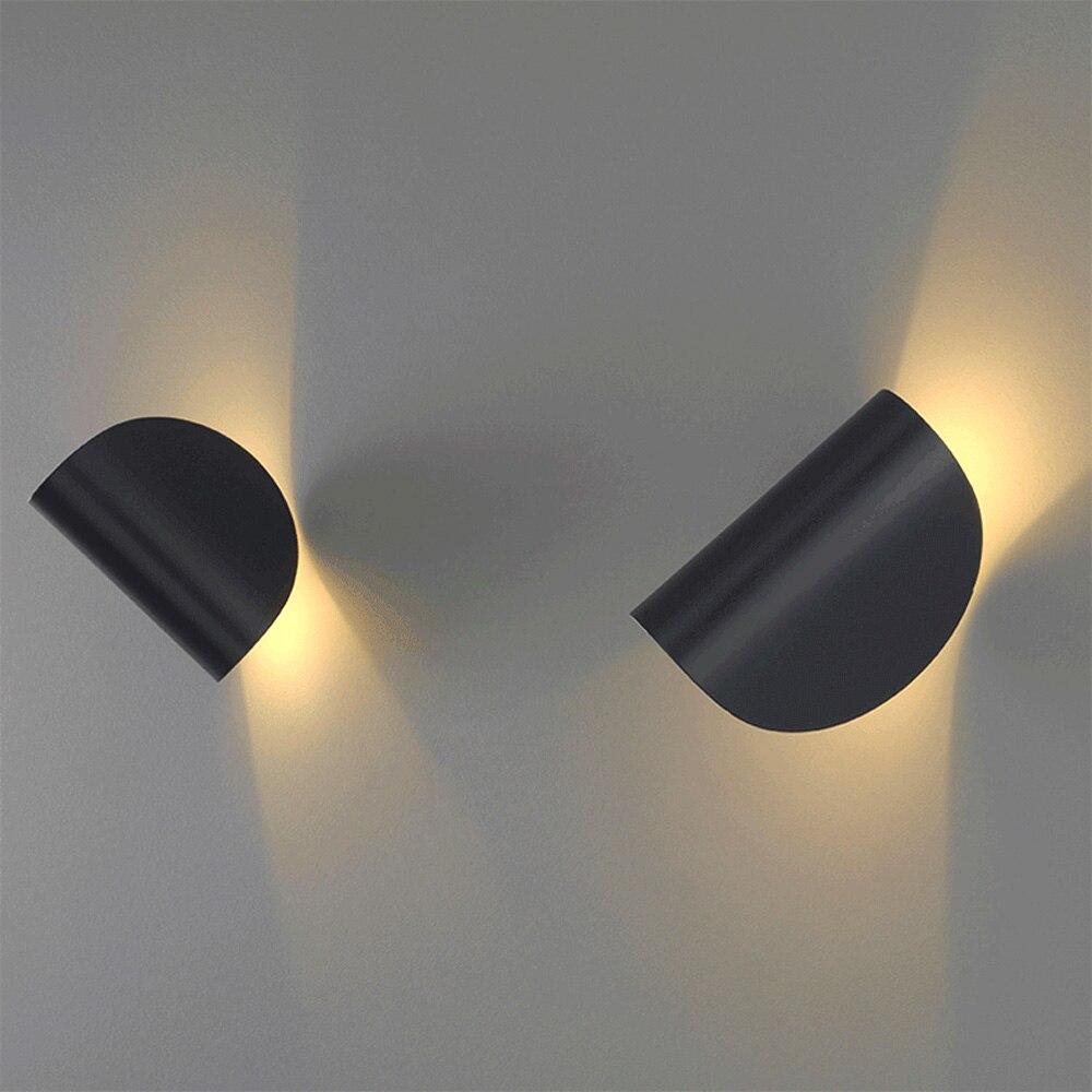 Nórdicos LED interiores modernos giratorio lámparas de pared dormitorio Pared de salón luces del norte de la decoración del hogar de iluminación 110-240V