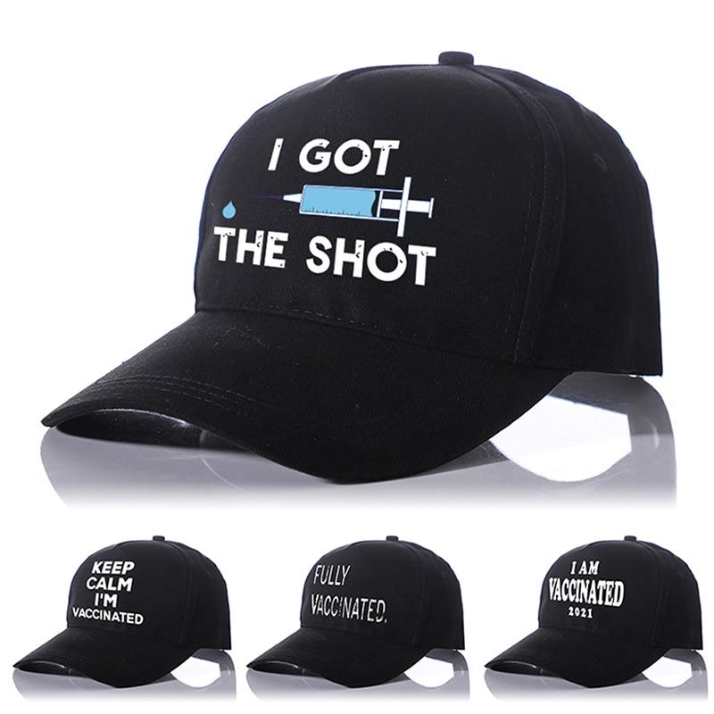 Бейсболка Keep Calm I'm привитой 2021 I получил шапку полностью привитой шапки унисекс черная для взрослых Прямая доставка