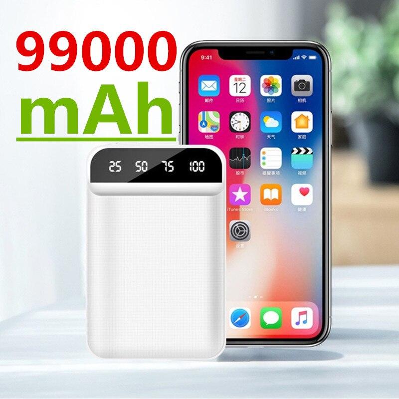 Mini power bank 99000mAh fast charging power bank 99000mAh portable external battery charger for iPhone Xiaomi