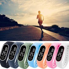 Led Digital Display Bracelet Watch Children's Students Silica Gel Sports Watchelectronic Watch Fashi