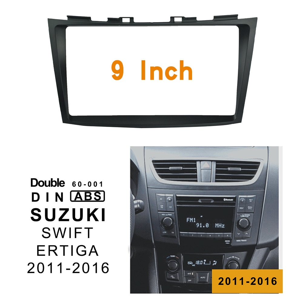 9 inch 2din Car Fascia For SUZUKI SWIFT 2011-2016 Stereo Panel Dash Mount Installation Double Din DVD frame For ERTIGA 2012-2016