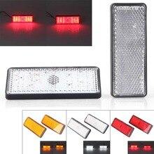 Moto LED Rectangle réflecteur queue frein arrêt feux de position voiture camion accessoires universels