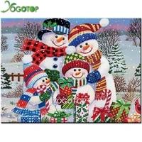 Peinture de bonhomme de neige complete en diamant  broderie de perles en point de croix en famille  bricolage  artisanat doux  cadeau de noel YY4461